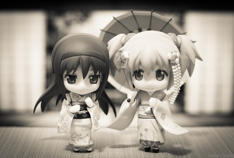 Madoka and Homura New Years - Together