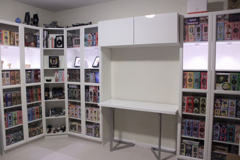 New Shelving - With Doors and Lighting