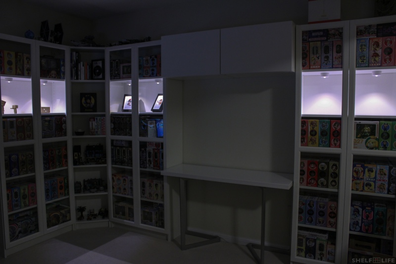 New Shelving - With Doors and Lighting, Dark
